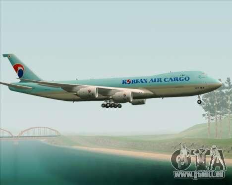 Boeing 747-8 Cargo Korean Air Cargo pour GTA San Andreas vue de côté