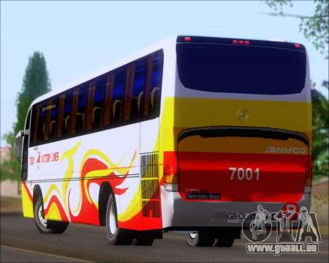 Marcopolo Victory Liner 7001 für GTA San Andreas obere Ansicht