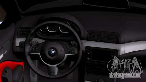 BMW M3 E46 Cabrio pour GTA San Andreas sur la vue arrière gauche