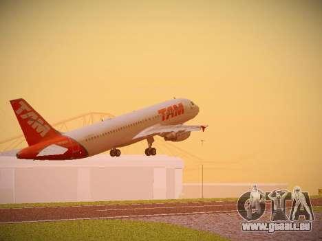 Airbus A320-214 TAM Airlines pour GTA San Andreas vue arrière