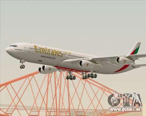 Airbus A340-313 Emirates für GTA San Andreas Innenansicht