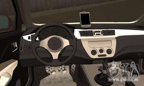 Mitsubishi Lancer Evo 8 pour GTA San Andreas sur la vue arrière gauche