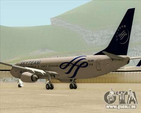 Boeing 737-86N Garuda Indonesia für GTA San Andreas zurück linke Ansicht