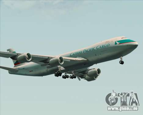 Boeing 747-8 Cargo Cathay Pacific Cargo für GTA San Andreas obere Ansicht