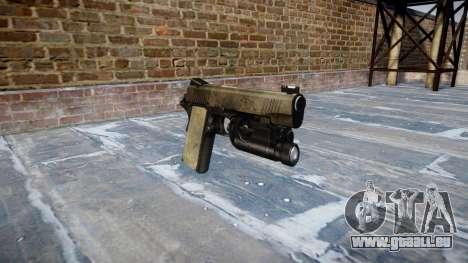 Gun Kimber 1911 Ein-Armee-fans das Leder AU für GTA 4