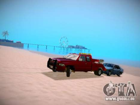 Dodge Ram Tow-Truck für GTA San Andreas Rückansicht
