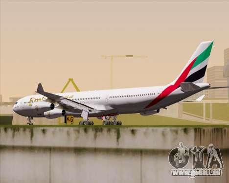 Airbus A340-313 Emirates für GTA San Andreas rechten Ansicht