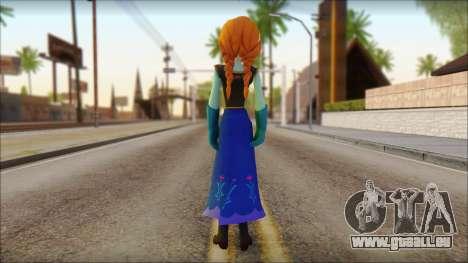 Princess Anna (Frozen) pour GTA San Andreas deuxième écran