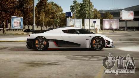 Koenigsegg Agera One:1 air core pour GTA 4 est une vue de l'intérieur