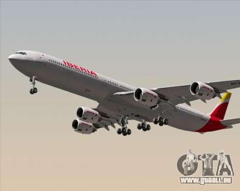 Airbus A340-642 Iberia Airlines für GTA San Andreas rechten Ansicht