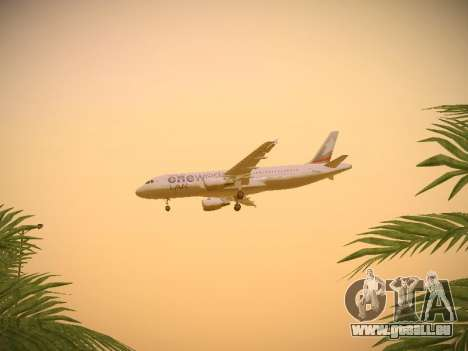 Airbus A320-214 LAN Oneworld pour GTA San Andreas vue de côté