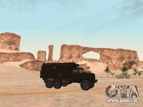 ZIL 131 Kung pour GTA San Andreas sur la vue arrière gauche