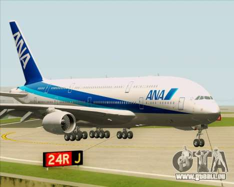 Airbus A380-800 All Nippon Airways (ANA) für GTA San Andreas linke Ansicht