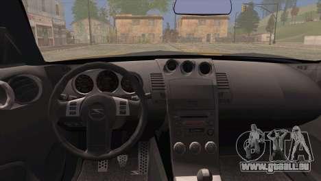 Nissan 350Z Turkey Tuned Drift für GTA San Andreas zurück linke Ansicht