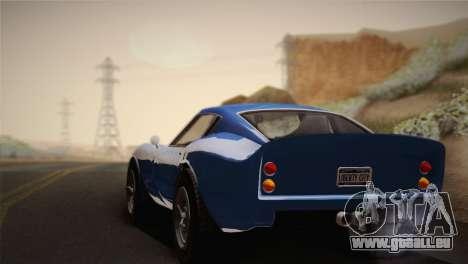 GTA 5 Stinger GT für GTA San Andreas zurück linke Ansicht