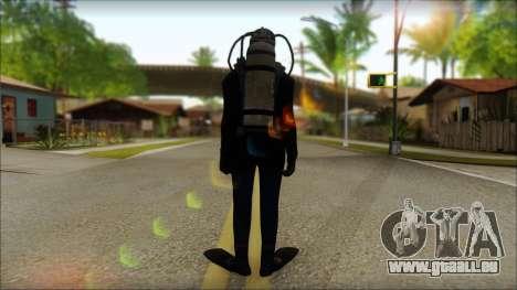 Plongeur pour GTA San Andreas deuxième écran