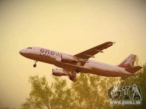Airbus A320-214 LAN Oneworld für GTA San Andreas obere Ansicht