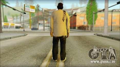 Afro - Seville Playaz Settlement Skin v2 für GTA San Andreas zweiten Screenshot