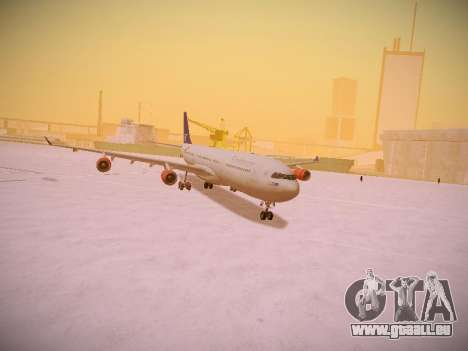 Airbus A340-300 Scandinavian Airlines für GTA San Andreas obere Ansicht