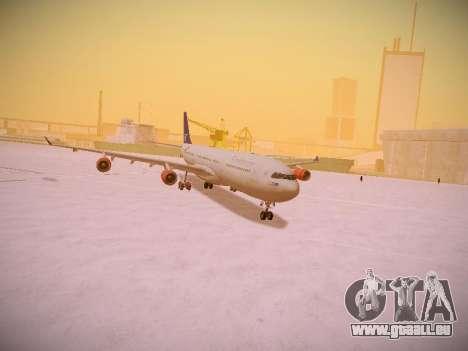 Airbus A340-300 Scandinavian Airlines pour GTA San Andreas vue de dessus