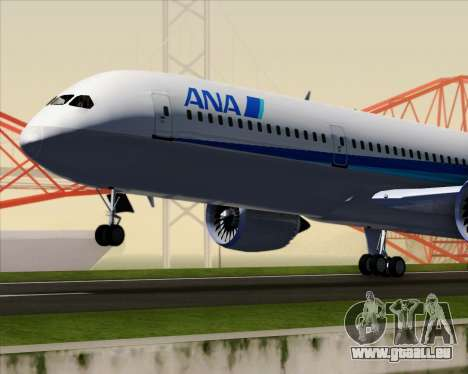 Boeing 787-9 All Nippon Airways für GTA San Andreas obere Ansicht