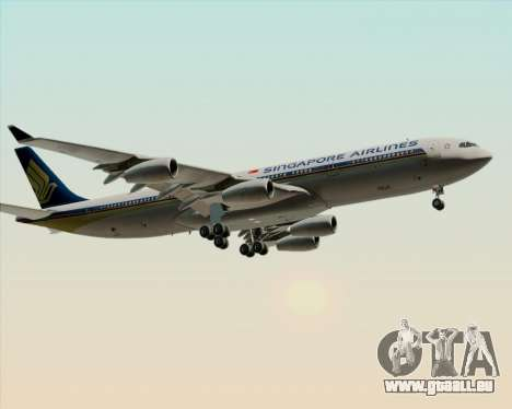 Airbus A340-313 Singapore Airlines für GTA San Andreas Seitenansicht