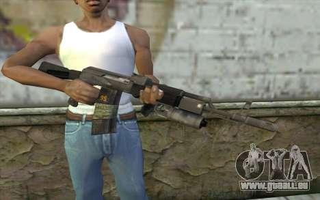 AK-101 sécurisé sur notre (Battlefield 2) pour GTA San Andreas troisième écran