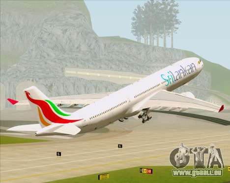 Airbus A330-300 SriLankan Airlines pour GTA San Andreas roue