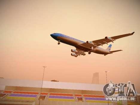 Airbus A340-300 D'Aerolineas Argentinas pour GTA San Andreas vue de dessous