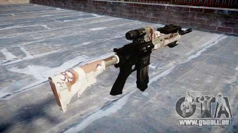 Fusil automatique Colt M4A1 choco pour GTA 4 secondes d'écran