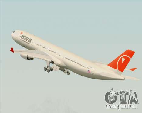 Airbus A330-300 Northwest Airlines pour GTA San Andreas
