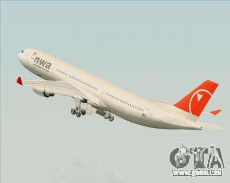 Airbus A330-300 Northwest Airlines für GTA San Andreas