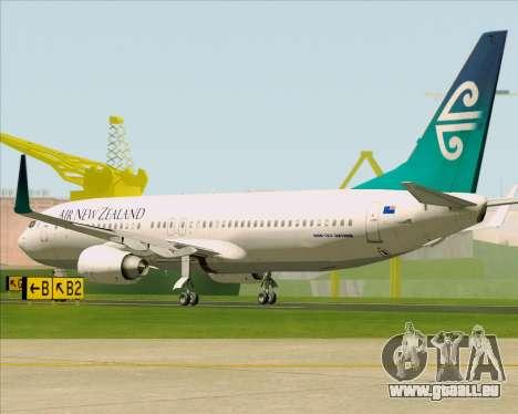 Boeing 737-800 Air New Zealand für GTA San Andreas rechten Ansicht