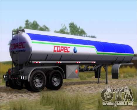 Trailer tank Carro Copec für GTA San Andreas linke Ansicht