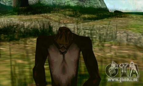 Sasquatch (Bigfoot) sur le mont Chiliade pour GTA San Andreas