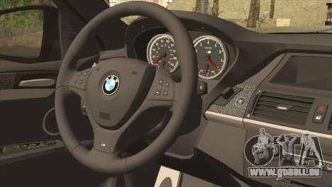 BMW X6M Lumma pour GTA San Andreas sur la vue arrière gauche