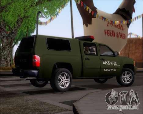 Chevrolet Silverado Gope pour GTA San Andreas vue de droite