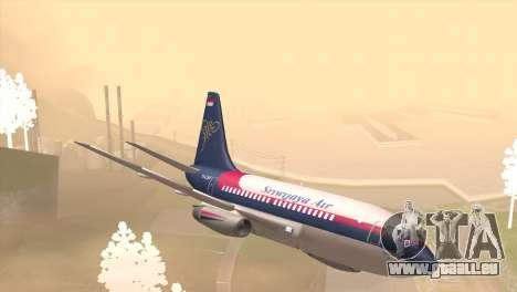 Indonesian Plane Sriwijaya Air für GTA San Andreas