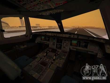 Airbus A380-800 Lufthansa pour GTA San Andreas salon