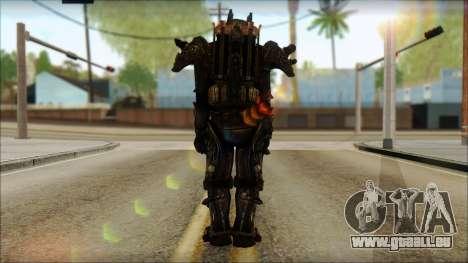 Enclave Tesla Soldier from Fallout 3 pour GTA San Andreas deuxième écran