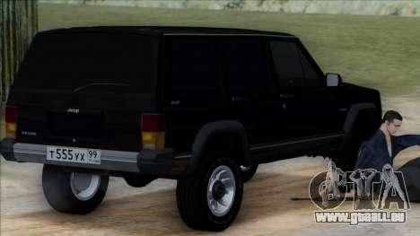 Jeep Cherokee pour GTA San Andreas laissé vue