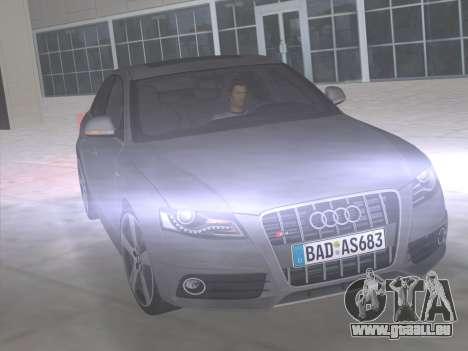 Audi S4 (B8) 2010 - Metallischen pour GTA Vice City vue latérale