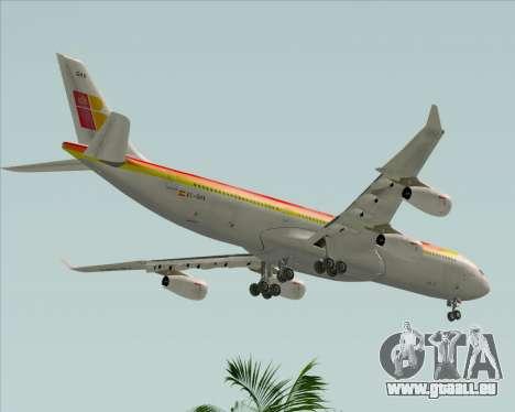 Airbus A340 -313 Iberia pour GTA San Andreas vue de côté
