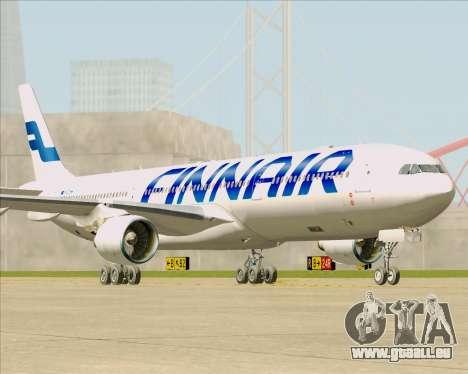 Airbus A330-300 Finnair (Current Livery) pour GTA San Andreas sur la vue arrière gauche