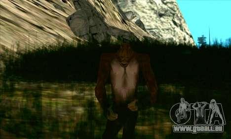 Sasquatch (Bigfoot) sur le mont Chiliade pour GTA San Andreas deuxième écran