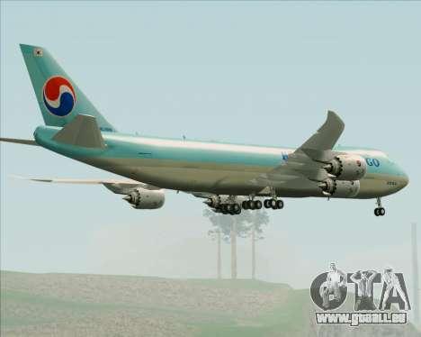 Boeing 747-8 Cargo Korean Air Cargo pour GTA San Andreas vue de dessous