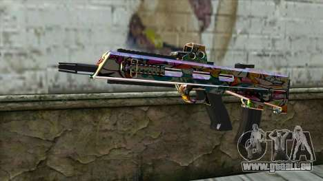 Graffiti Assault rifle für GTA San Andreas