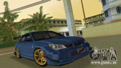 Subaru Impreza WRX STI 2006 Type 2 für GTA Vice City linke Ansicht