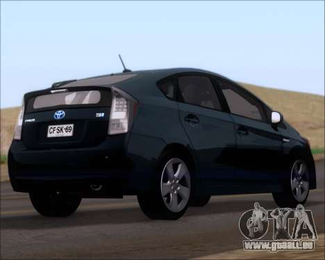 Toyota Prius pour GTA San Andreas laissé vue