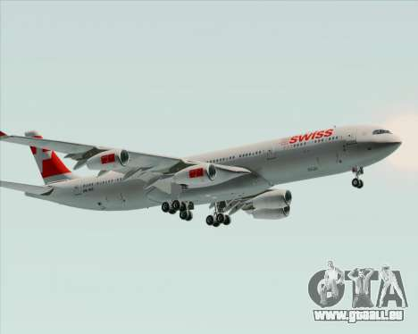 Airbus A340-313 Swiss International Airlines für GTA San Andreas Rückansicht